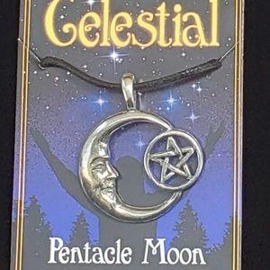 Pentacle Moon Celestial Amulet NWT